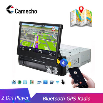 Camecho 1 Din radio samochodowe multimedialny odtwarzacz wideo nawigacja GPS Android lustro Link radio samochodowe Stereo 7 #8222 chowany ekran dotykowy MP5 tanie i dobre opinie Double Din 45W*4~55W*4 1 Din Car Radio Windows ce Jpeg 256 mb Aluminum+Plastic 800*480 AutoRadio GPS 1 98kg Nadajnik fm