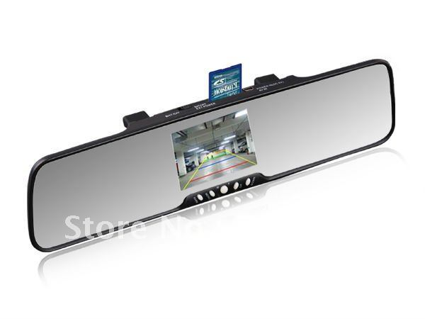 "bluetooth mirror with car camera system +3.5""TFT display +MP3+FM+2speaker+phonebook"