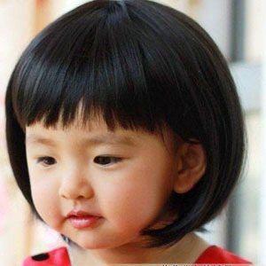 korean style lovely baby girl wigs kids child girl's short