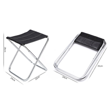 Portable Lightweight Folding Fishing Picnic BBQ Garden Chair Aluminum Alloy Outdoor Stool For Camping Hiking Fishing