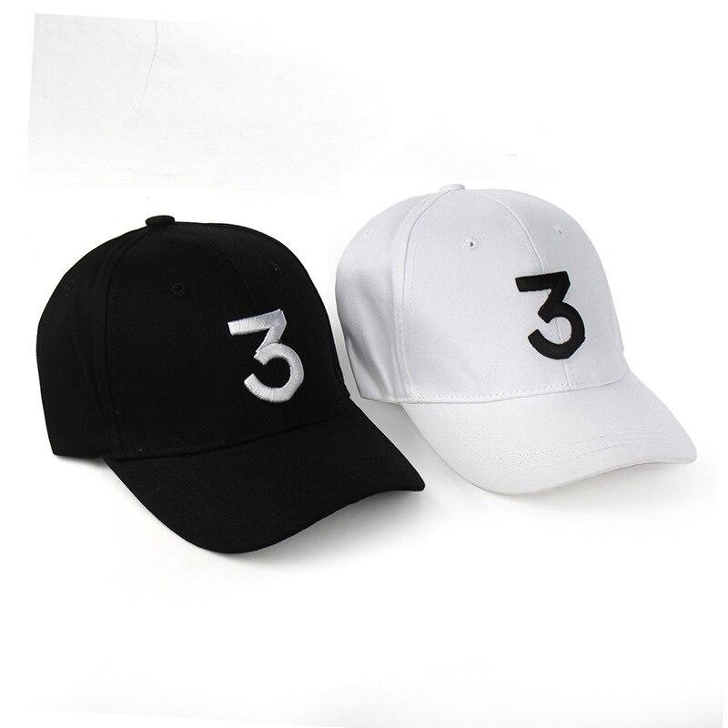 a42c86811b2 Popular chance the rapper 3 Hat Cap Black Letter Embroidery Baseball Cap  Hip Hop Streetwear Strapback