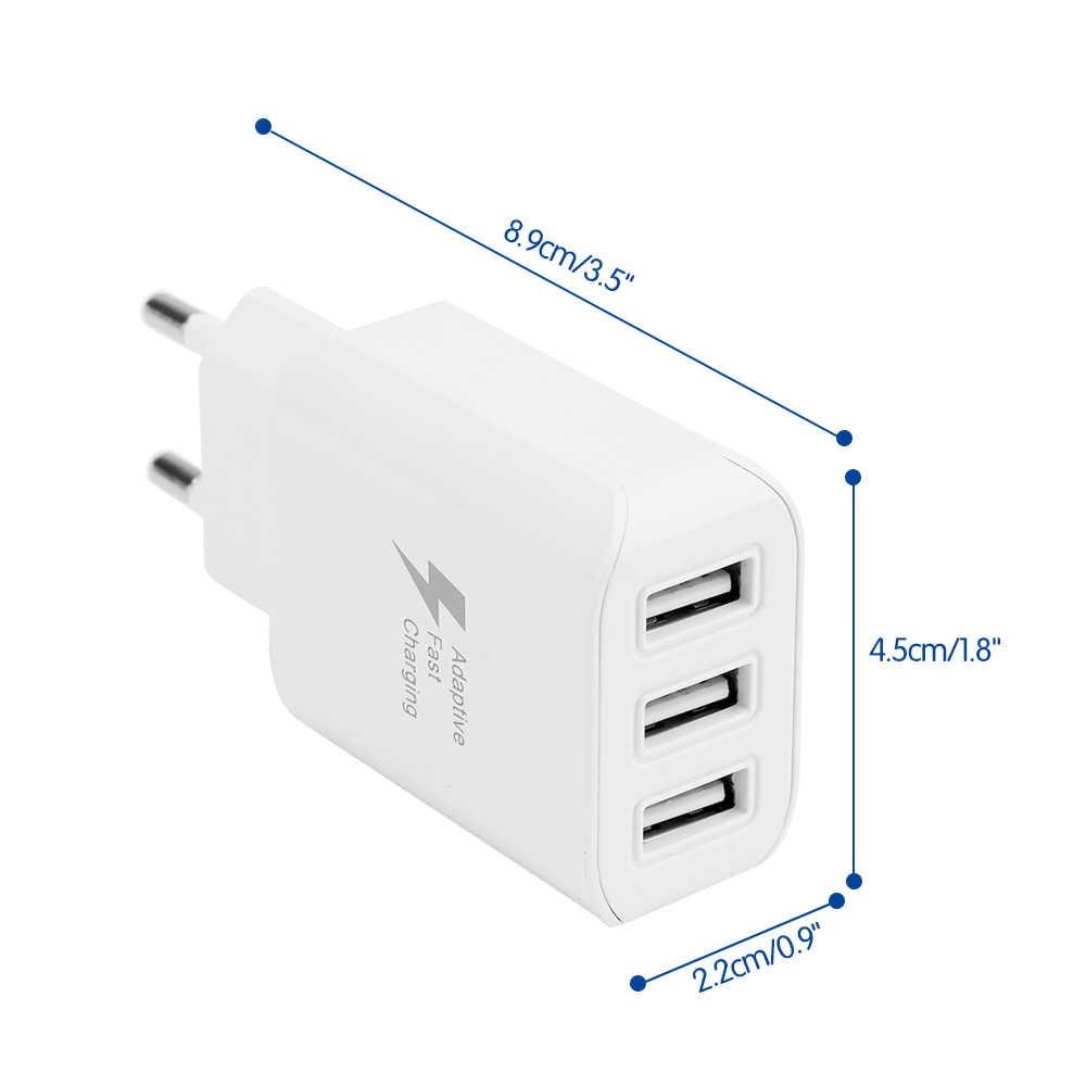 Nowy 3 porty USB ładowarka 3A przenośny telefon komórkowy