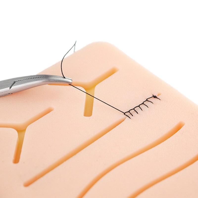 Chirurgicale Suture De La Peau Pratique Silicone Pad avec Plaie Simulé Peau Suture Module Haute Qualité Matériel Chirurgical