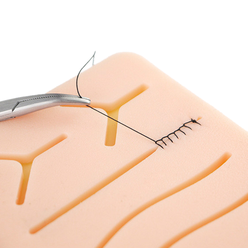 все цены на Surgical Skin Suture Practice Silicone Pad with Wound Simulated Skin Suture Module High Quality Surgical Equipment онлайн