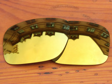 Polycarbonate 24K Golden Mirror Replacement Lenses for Authentic Holbrook Sunglasses Frame 100 UVA UVB Protection