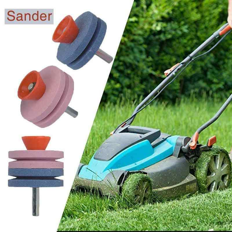 1PC 50MM Lawn Mower Sharpener Faster Blade Sharpener Lawn Mower Universal Grinding Rotary Drill Cuts Lawnmower Blade Sharpener