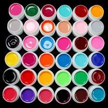 Профессиональный маникюрный гель для ногтей 36 цветов однотонный