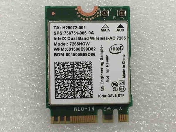 SSEA nouvelle carte sans fil pour Intel double bande sans fil AC 7265 802.11ac 2x2 WiFi + 4.0 Bluetooth 802.11ac Mini carte PCI-E NGFF
