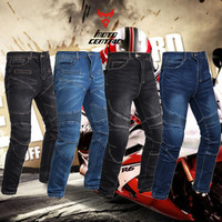 MC Windproof Motorcycle Jeans Casual Men's Motorbike Motocross Off Road Knee Protective Moto Jeans Trousers komine pantalo moto
