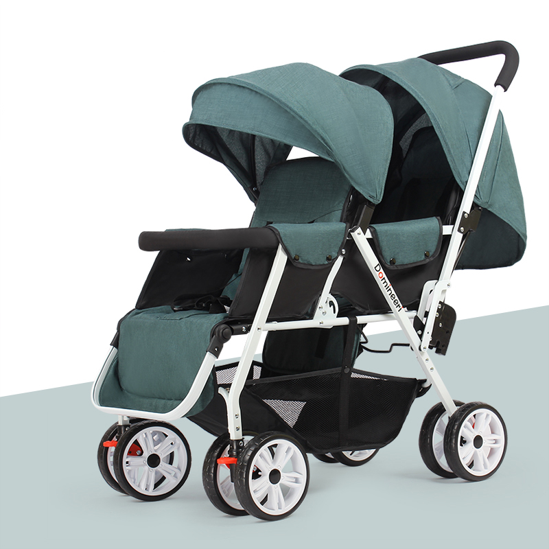 Hot mom to Russia 2017 New baby stroller for twins Lightly folded baby carriage Seat can be lying double carts stroller for kids