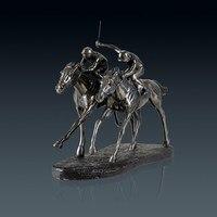 Ретро лошадь гоночная статуя животное жокей Художественная Скульптура смола и Медь Искусство и Настенная Декорация голова оленя спортивны