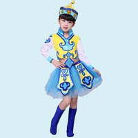 Children's National Costume Ethnic Mongolian Dance Clothing Chopsticks Dance Clothes