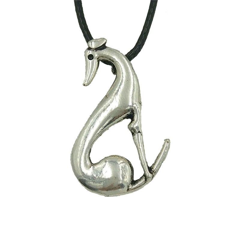 wholesale retro Italian Greyhound dog pendant necklace Women Spanish Grey Whippet Hound choker necklace animal Jewelry gift