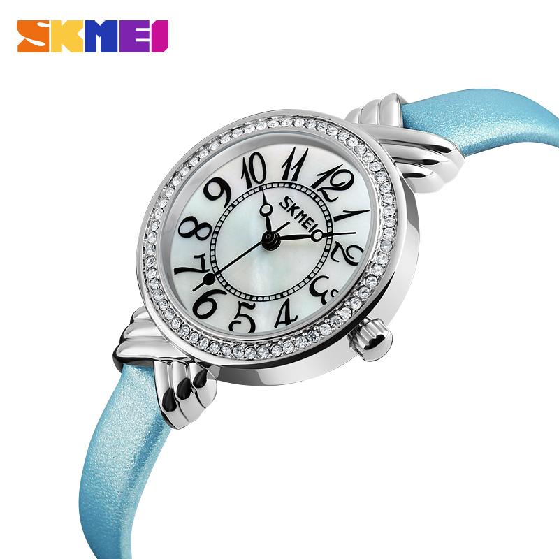 SKMEI Brand Women Quartz Watches Fashion Casual Ladies Watch Waterproof Leather Wristwatches Montre Femme Relogio Feminino 9162 relojes mujer 2016 quartz watch women watches relogio feminino women s leather dress fashion brand skmei waterproof wristwatches