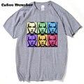 PULVERIZADO ATÉ HIP HOP RAP EMINEM Camiseta masculina SLIM SHADY Estrela da MÚSICA UOMO T-SHIRT TEE camisetas de Manga Curta Casuais Camisa de Algodão
