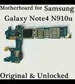 Mainboard original para samaung galaxy note 4 n910u alta calidad placa de desbloqueo con fichas completas de la placa lógica motherboard