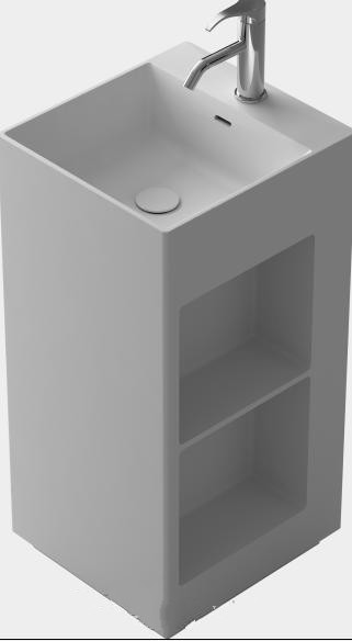 все цены на Bathroom Rectangular Pedestal Freestanding Vessel Wash sink Solid surface stone wash basin RS38378