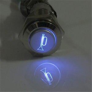 12 В 16 мм Водонепроницаемые мгновенные колонки колокольчики металлический кнопочный переключатель светодиодный Рабочее напряжение 12 В DC