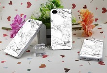 marble Hard Plastic Clear Back Transparent Style Case Cover for iPhone 4 4s 5 5s 5c