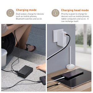 Image 4 - Baseus 10000mah Power Bank With USB Plug Quick Charge Powerbank Type C USB PD3.0 QC Fast Charger Portable Wall Charger For Phone