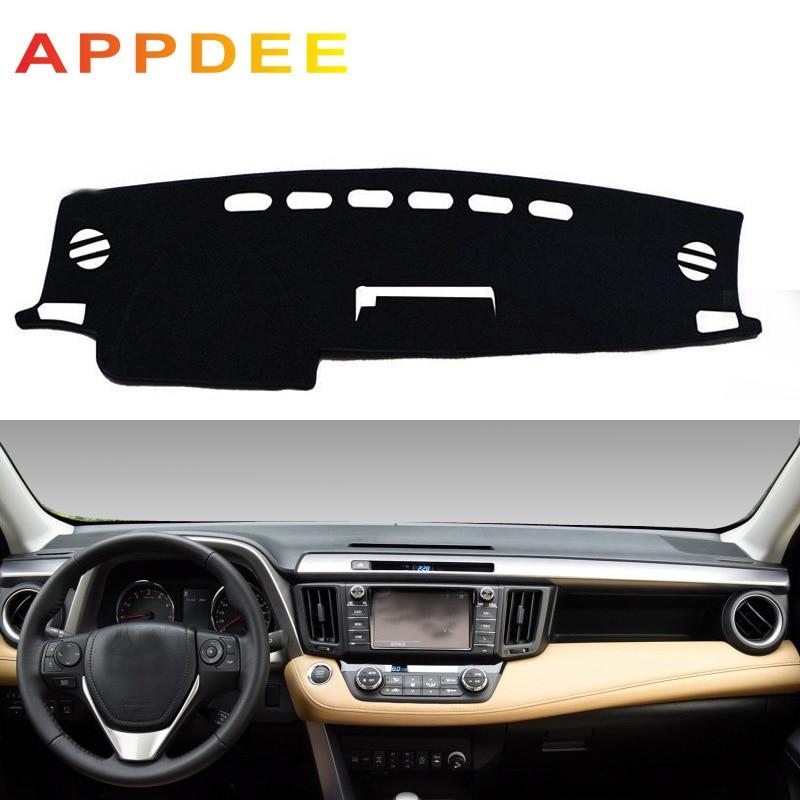 APPDEE Fit For Toyota RAV4 XA40 2013 2014 2015 2016 2017 2018 Dashmat Dash Mat Dashboard Cover Pad Sun Shade Dash Board Cover Ca