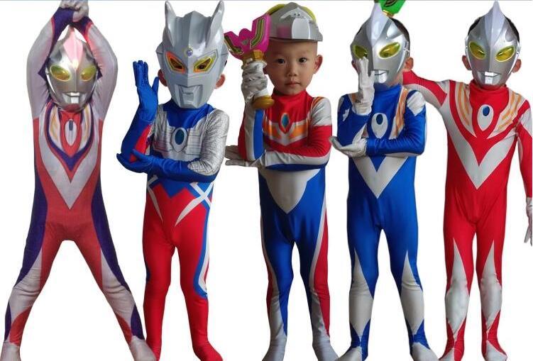 Ultraman Hero japan Character Boy Party Costume Kid Size3t ...
