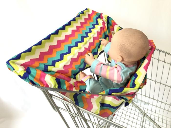2в1 чехол на колесиках/Чехол на стульчик для кормления для младенцев и малышей/детский коврик на подушку для супермаркета корзина для покупок - Цвет: colorful waves