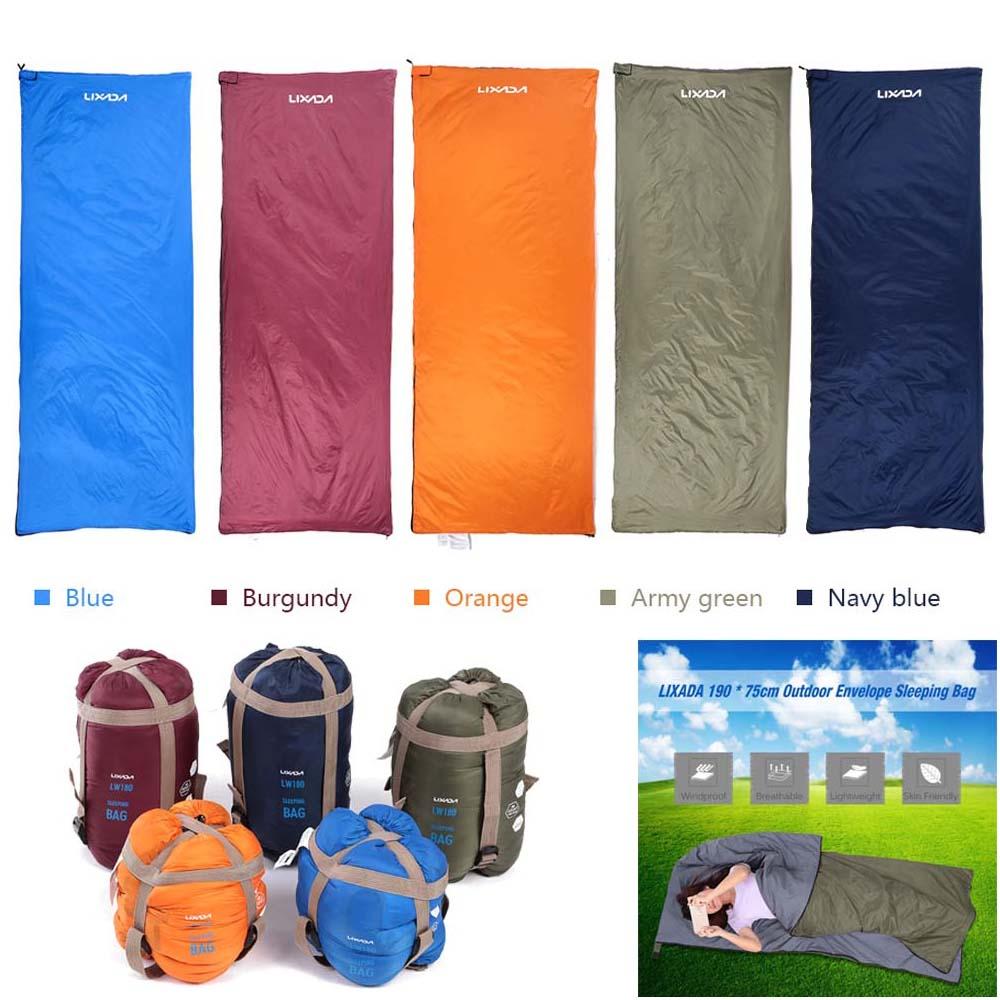 Envelope Outdoor Protable Camp Travel Ultralite Compact Lightweight Sleeping Bag
