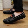 mens shoes genuine leather 2016 Hot sale Warm Winter fashion flats loafers soft driving leather shoes