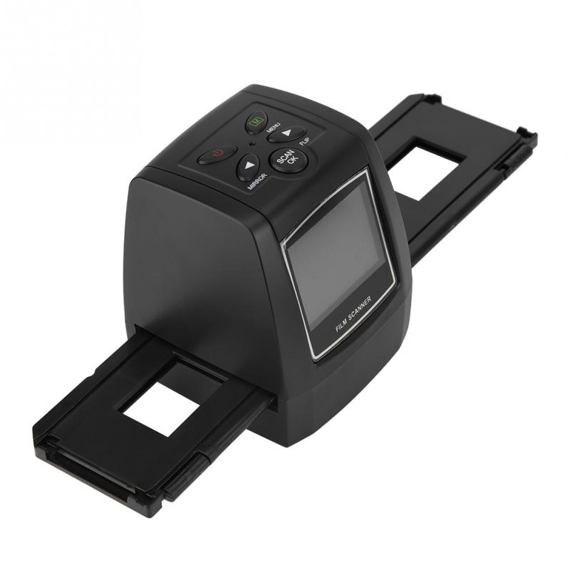 2.36'' TFT LCD Screen 5MP/ 10MP USB 135/ 35mm Negative Film Scanner Support SD MMC Card