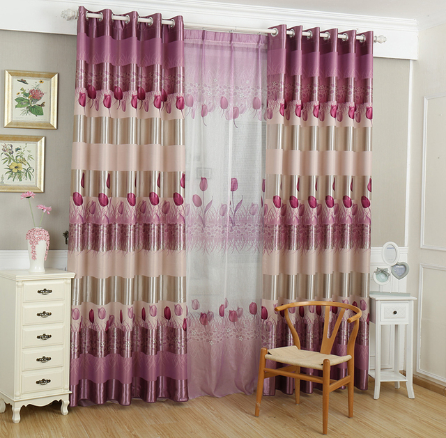 2016 new pattern high quality printed blackout finished curtain