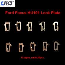 CHKJ 200 шт./лот HU101 Язычковая пластина автомобильного замка для Ford Focus Fiesta Ecosport латунный материал Слесарные Инструменты Набор для ремонта автом...