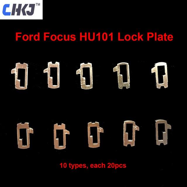 Best Offers CHKJ 200pcs/lot HU101 Car Lock Reed Plate For Ford Focus Fiesta Ecosport Brass Material Locksmith Tools Car Lock Repair Kit