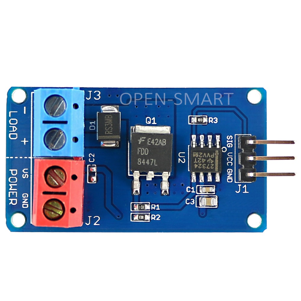 High-Current MOSFET Switch Module DC Fan / Motor / LED Strip Driver Steples Speed for Arduino AVR ARM PIC bic 0.5 mm mechanical pencil