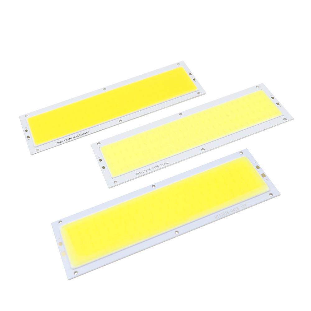 DC12V COB LED Panel Strip Light Chip 10W Lamp Bulb Car Light Source Warm White Pure White For Car DIY Spotlight Floor Lighting [sumbulbs] 200x10mm 0422 10w led light cob strip lamp dc 12 14v 1000lm green yellow red blue warm white pure white drl car light