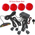 New Arrival 12V 4 Parking Sensors with  LED display Monitor Car Reverse Backup Radar System Kit with 44 Colors Available