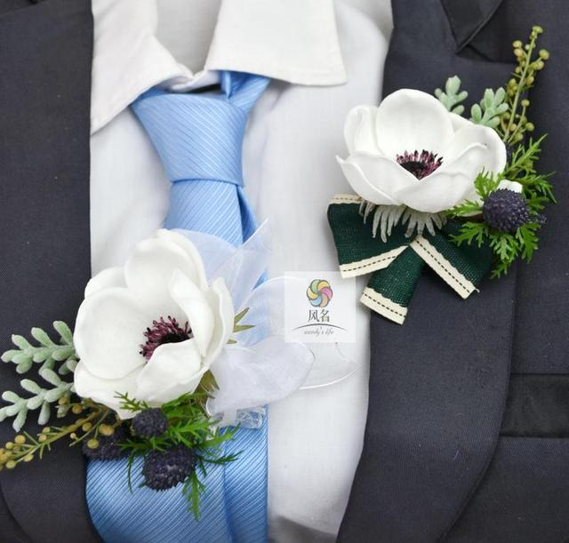 3pcslot new creative white silver lotus flower wedding corsage 3pcslot new creative white silver lotus flower wedding corsage flowers groom accompanied by brooches mightylinksfo