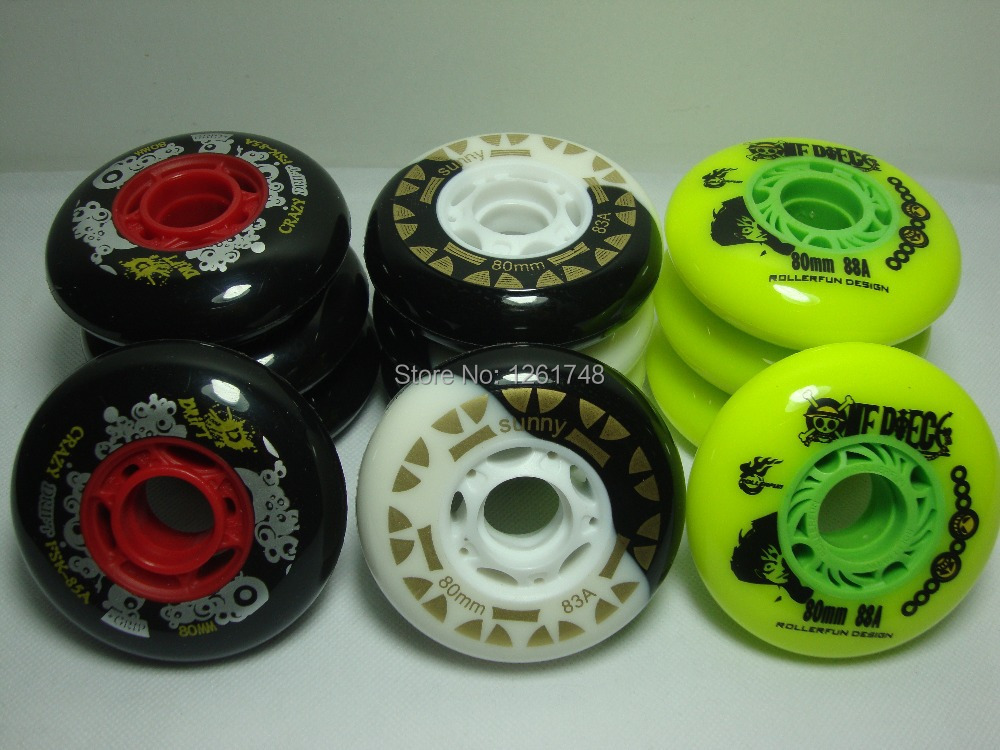 Support Wholesale! 8 Wheels Free Shipping! High Quality Skate Wheels / 72mm76mm80mm