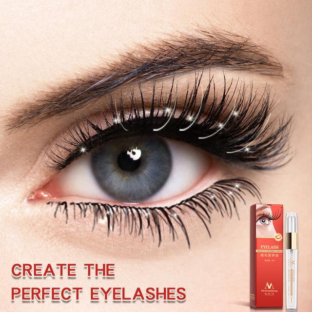 MeiYanQiong Eyelash Growth Nutrient Liquid Eye Eyelash Extension Thickening Long Length Strong Growth Eyelash Eye Care 10ml