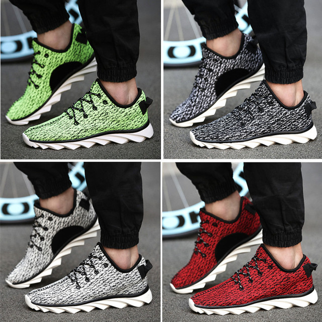 6c352a7ef Free Shipping 2015 New Arrival Kanye West Yeezy 350 Sneakers Low Top Casual  Lacing Blade Sole Sport Shoes Green Running Shoes