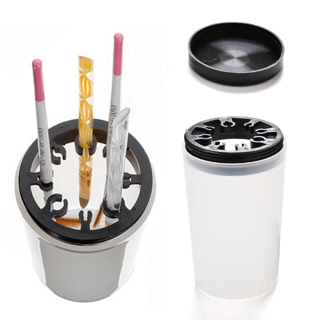 Nail Art Brush Cleaner: New 1Pcs Free Shipping Nail Tools Wash Pen Cup Nail Art