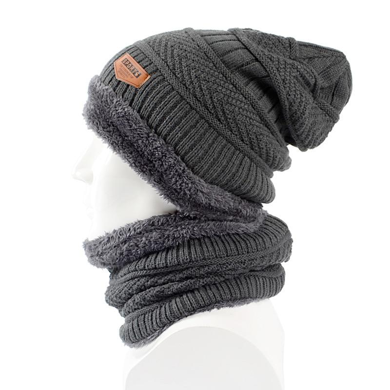 Winter   Skullies     Beanies   Men Scarf Knitted Hat Caps Male Mask Bonnet Warm Winter Hats For Men Women   Beanies   Hats