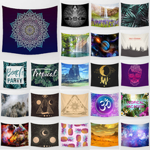 Unicorn color Mandala tapestry waterfall pineapple  wall hanging home decoration large rectangle bedroom