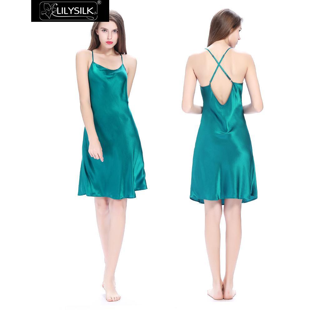 dark-teal-22-momme-crossed-back-silk-nightgown-01