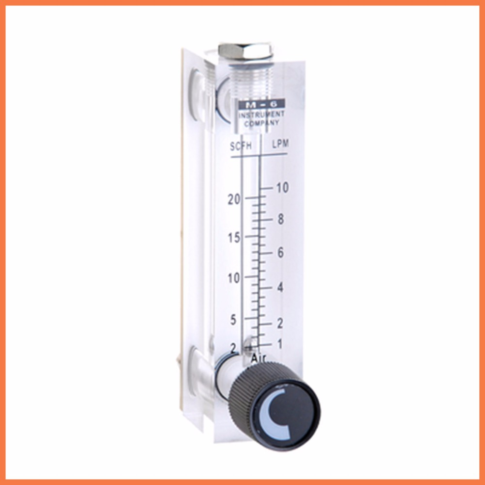 LZT-6T 1-10 LPM Square Panel Type Gas Flowmeter Air Flow Meter rotameter LZT6T Tools Flow Measuring lzb 25 gas glass rotameter rotor flowmeter