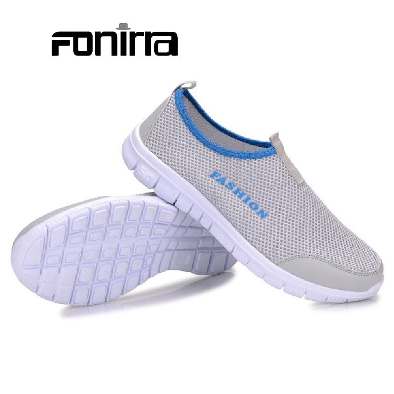 2016 New Summer Breathable Men Casual Shoes  Mesh Shoes  Slip On Soft Size 38-46 Men's Loafers Outdoors Shoes 131 big size 46 summer breathable mesh loafers men casual shoes genuine leather slip on brand fashion flat shoes soft comfort cool