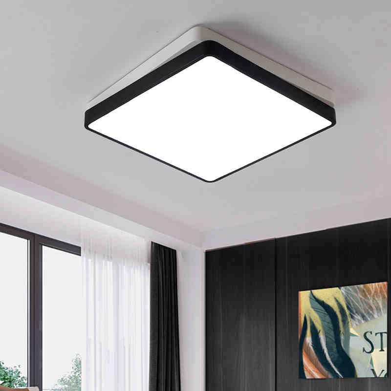 2017 Black/White Color Modern Led Ceiling Lights for Living Room bed Room lamparas de techo Led Ceiling Home Decoration lamp 2017 acrylic modern led ceiling lights fixtures for living room lamparas de techo simplicity ceiling lamp home decoration