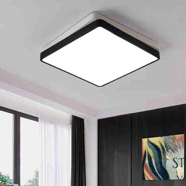 2017 Schwarz/Weiße Farbe Moderne Led Deckenleuchten Für Wohnzimmer  Schlafzimmer Lamparas De Techo Führte