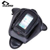 CUCYMA Motorcycle Bag Motorcycle Tank Bag Oil Fuel Bag Magnet Motorbiker Oxford Waterproof GPS Saddle Bags Black