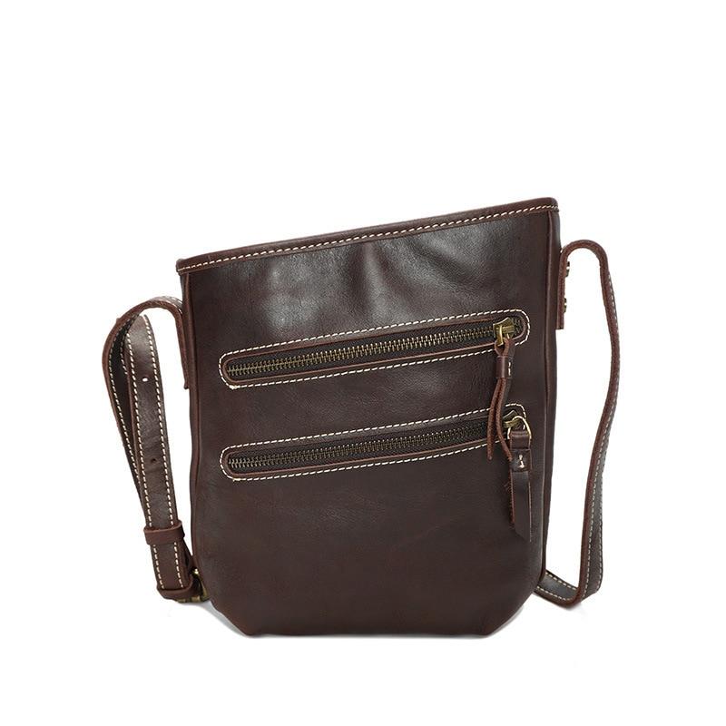 Soft Genuine Leather Men's Casual Handbag Crossbody Messenger Bag Fahion Zipper Sling Bag For Male Man YD8122 casual canvas satchel men sling bag